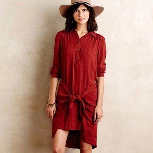 Anthropologie Maeve cotton tunic wrap dress